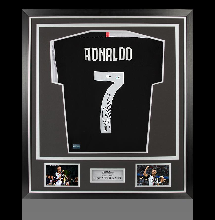 Cristiano Ronaldo Back Signed Juventus 2019-20 Home Shirt In Classic Frame  | eBay