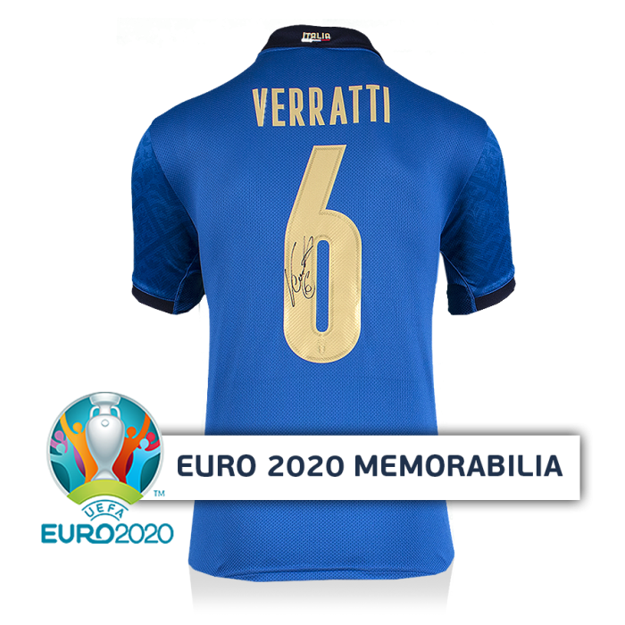 Marco Verratti Official UEFA EURO 2020 Back Signed Italy ...