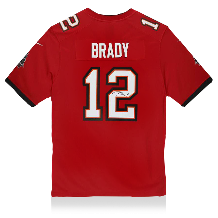 Tom Brady Back Signed Tampa Bay Buccaneers Home Jersey