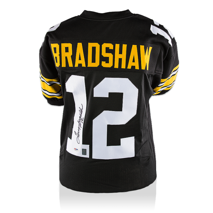 Terry Bradshaw Back Signed Pittsburgh Steelers Jersey