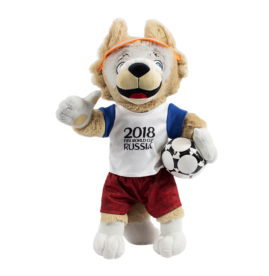 2018 FIFA FOOTBALL WORLD CUP - ZABIVAKA WOLF - OFFICIAL