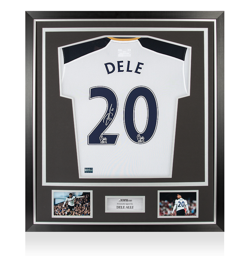 Dele Alli Back Signed Tottenham Hotspur 201617 Home Shirt In Classic Frame