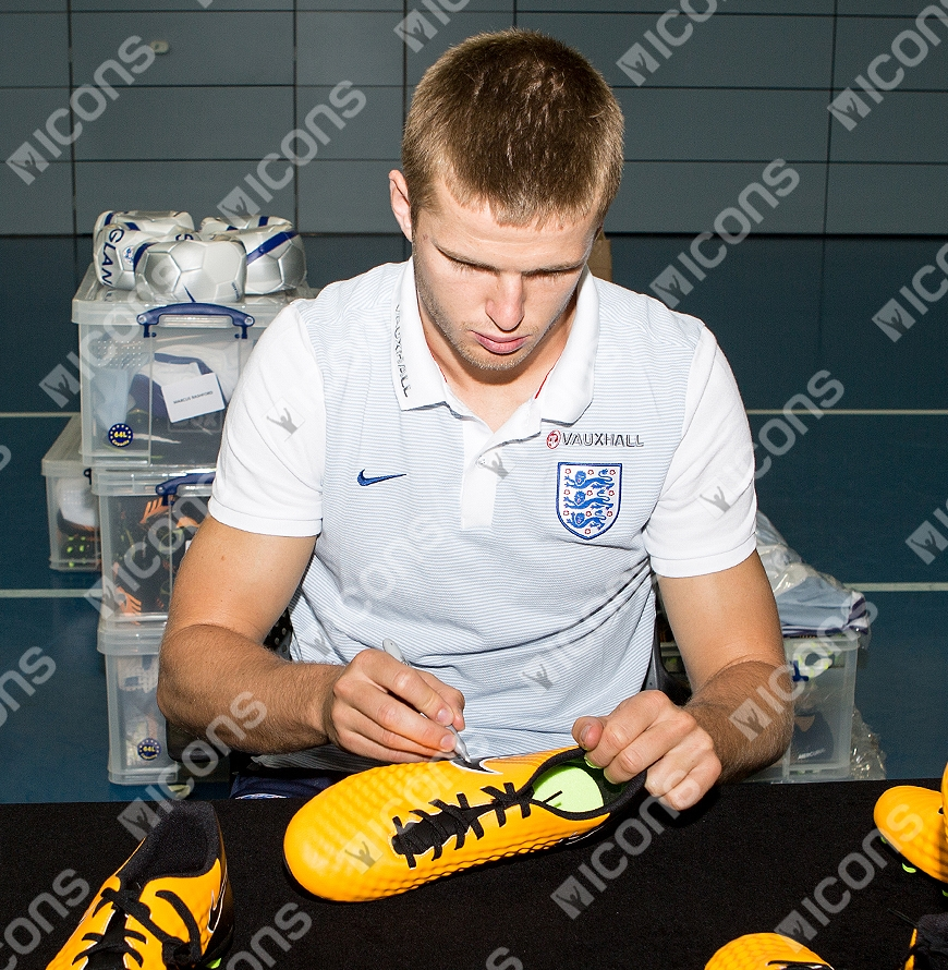 576231a6d983c Details about Eric Dier Official England Signed Yellow and Black Nike  Magista Boot In Acrylic