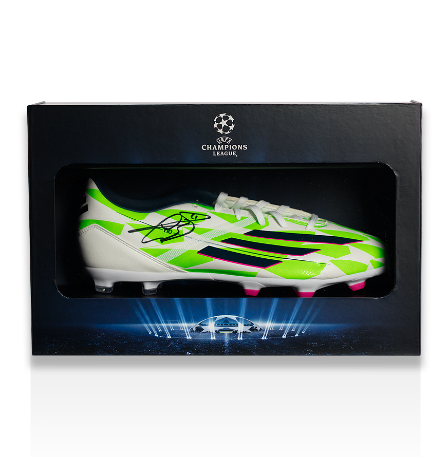 Gareth Bale Official UEFA Champions League Signed Adidas F50 adizero Boot in Deluxe Packaging