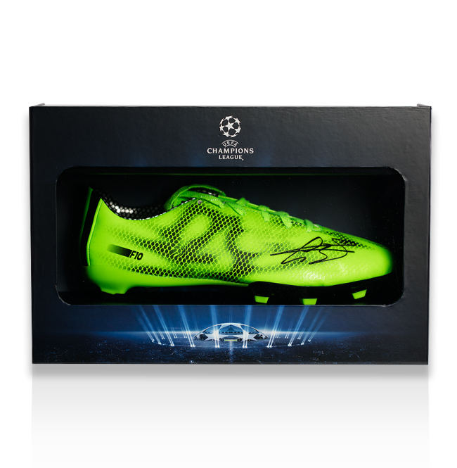 Gareth Bale Official UEFA Champions League Signed Adidas F10 Adizero Boot in Deluxe Packaging