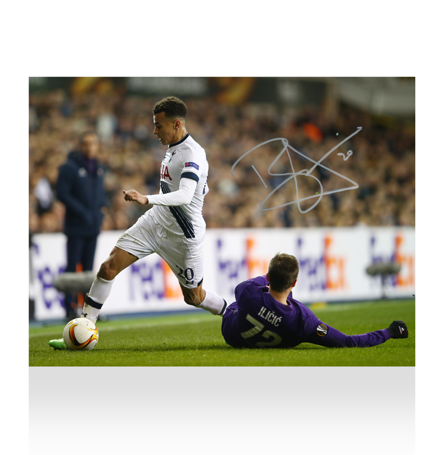 Dele Alli Signed Tottenham Hotspur Photo Fearless Dribbler