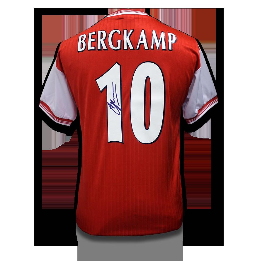 Dennis Bergkamp Back Signed Arsenal Centenary Shirt
