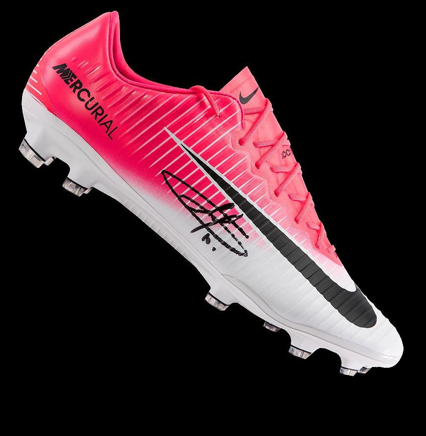 67616e6b9 Eden Hazard Signed Nike Mercurial Vapor XI Boot In Deluxe Packaging ...