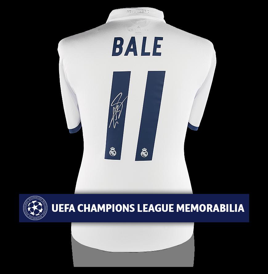 e35f9ae7879b4 Gareth Bale Official UEFA Champions League Signed Real Madrid 2016-17 Home  Shirt