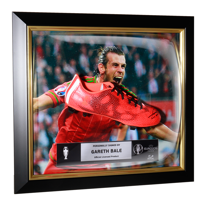 Gareth Bale Official UEFA EURO 2016 Signed and Framed adidas F50 adizero FG Boot