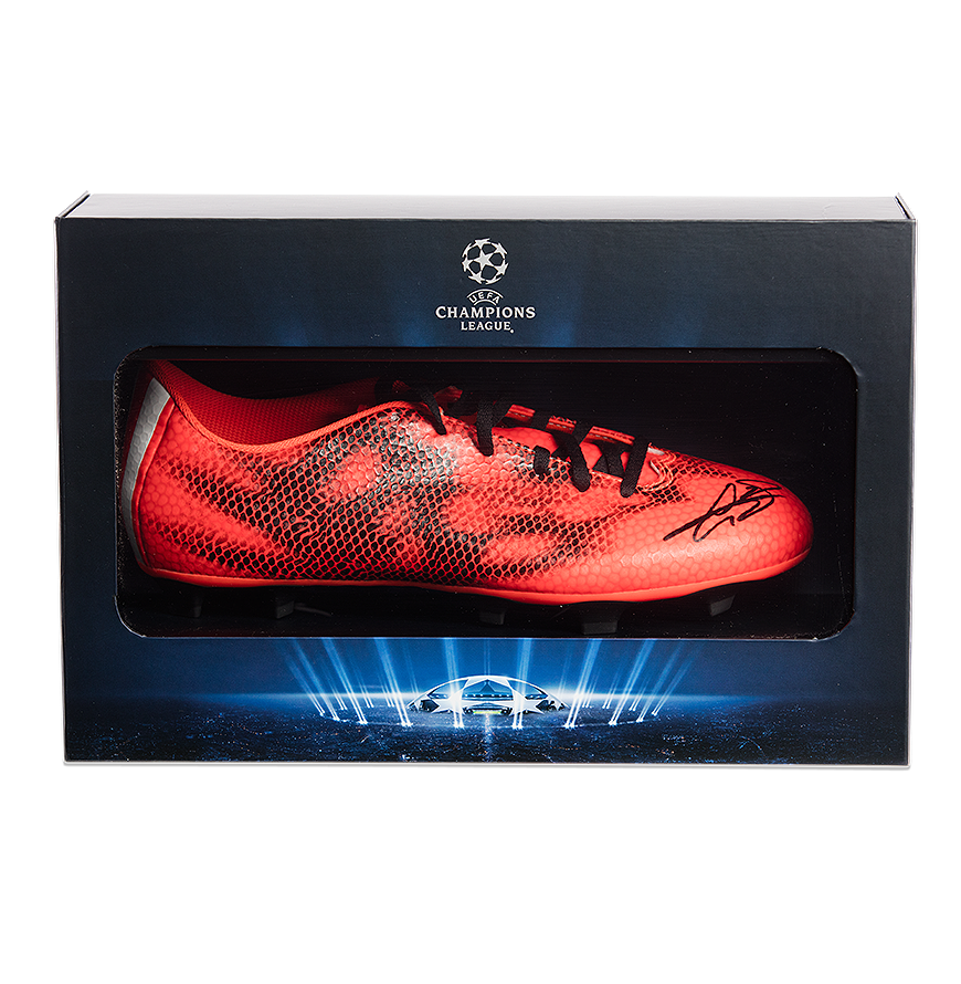 Gareth Bale Official UEFA Champions League Signed adidas F50 adizero FG Boot In Deluxe Packaging