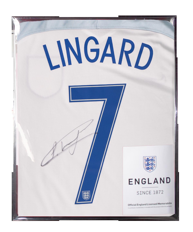 Sports Memorabilia Jesse Lingard Official England Back Signed 2016-17 Home Shirt