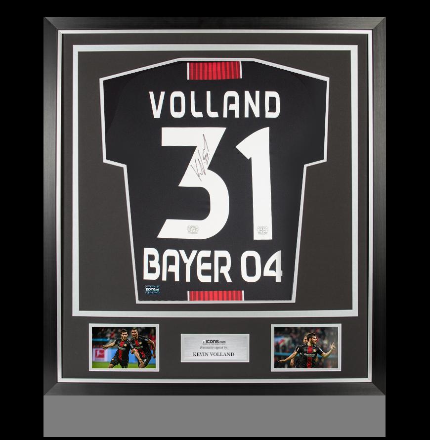 Kevin Volland Back Signed Bayer Leverkusen 2018-19 Home Shirt In ...