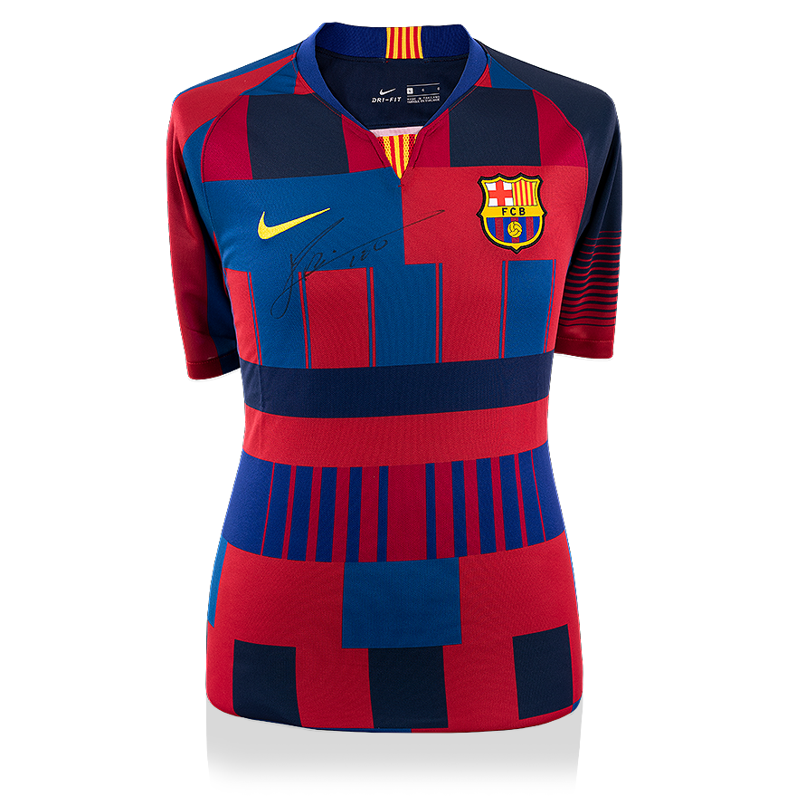 63252261 Lionel Messi Official Front Signed FC Barcelona Home Shirt: Nike 20-Year  Anniversary Special