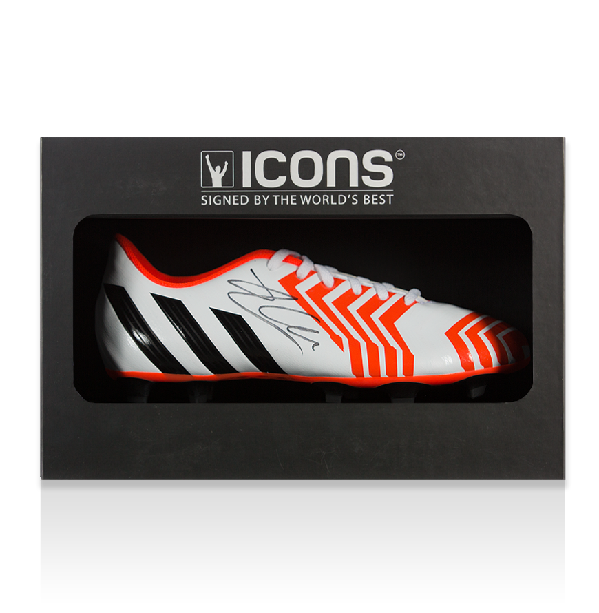 Xabi Alonso Signed White Adidas Predator Boot In Deluxe Packaging