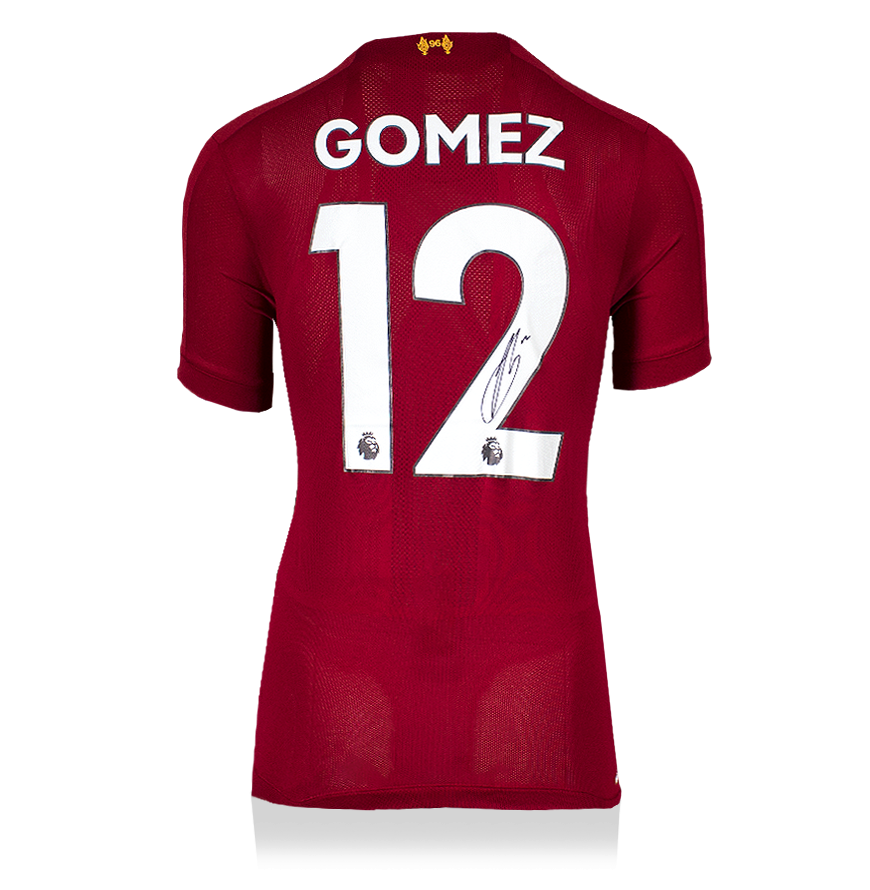 Joe Gomez Back Signed Liverpool 2019-20 Home Shirt ...