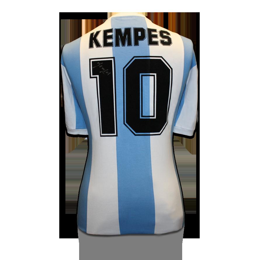 Mario Kempes Signed Argentina Shirt