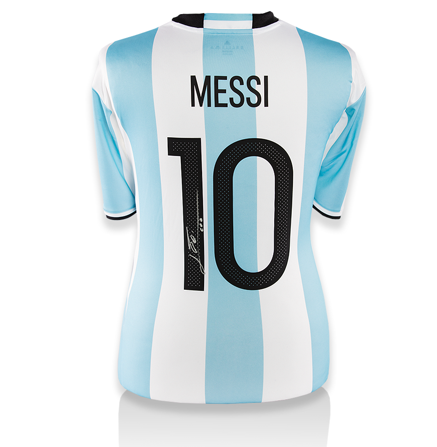 Lionel Messi Official Back Signed Argentina 2016 Home Shirt