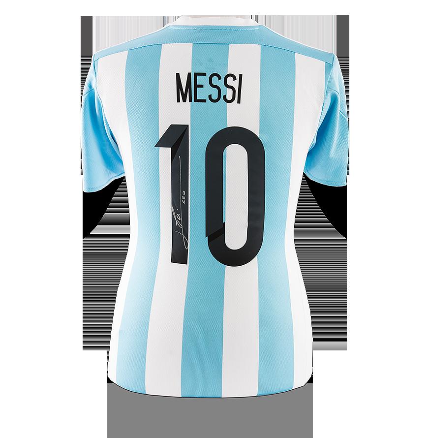 Lionel Messi Official Back Signed Argentina 201516 Home Shirt