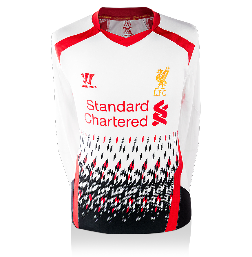new style 30012 1f278 Details about Luis Suarez Back Signed Liverpool 2013-14 Away Shirt With  Long Sleeves