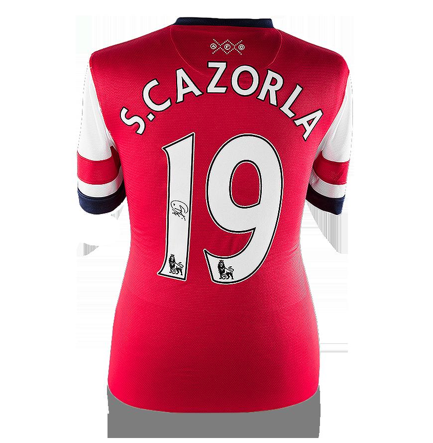 Santi Cazorla Back Signed Arsenal Home Shirt
