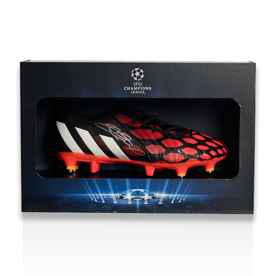 Steven Gerrard Official UEFA Champions League Signed Adidas Predator Instinct Boot in Deluxe Packaging